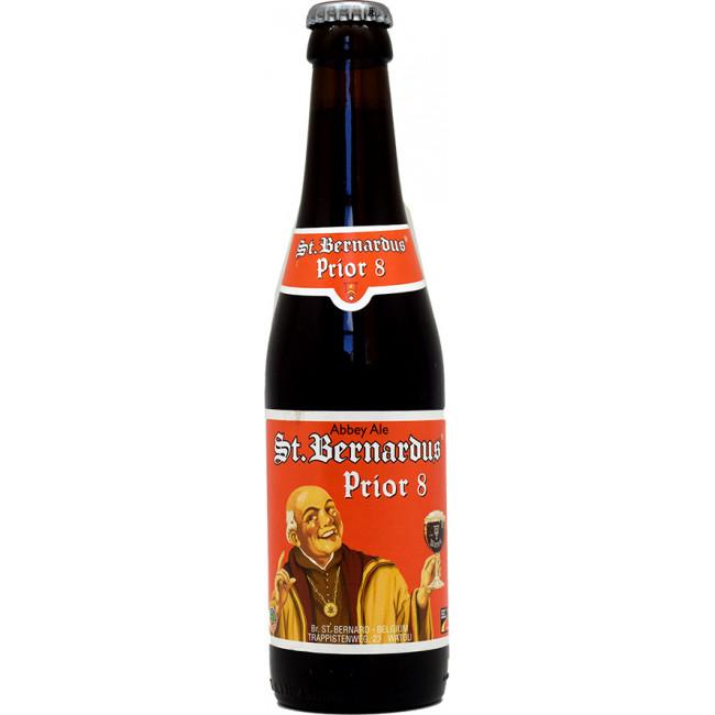 Пиво St.Bernardus Prior 8 Тёмное нефильтрованное алк.8%, 0.33 л