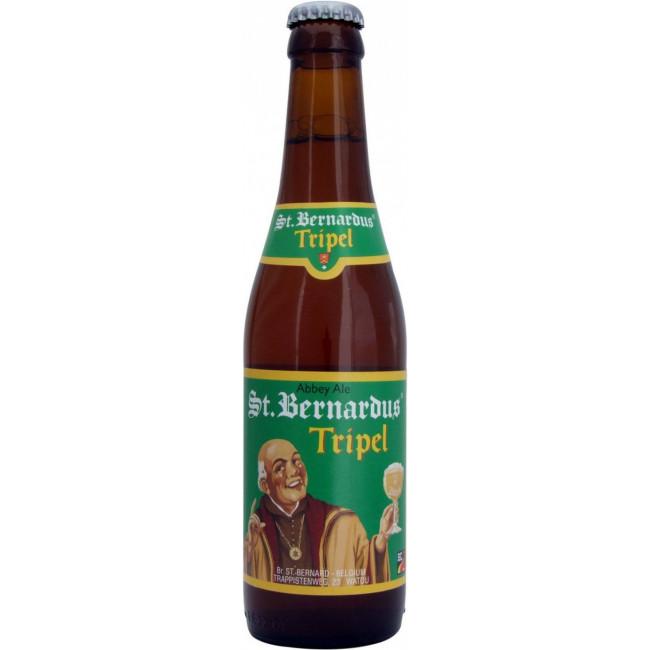 Пиво St.Bernardus Tripel Средне-янтарное фильтрованное алк. 8%, 0.33 л