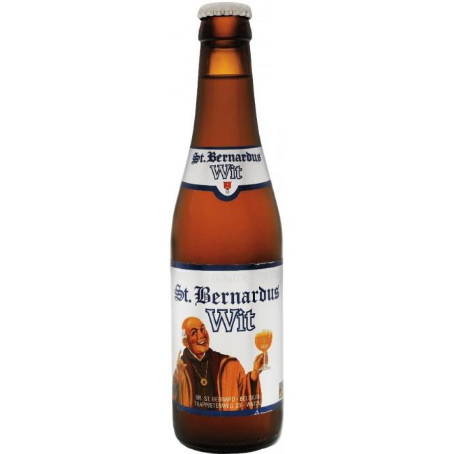 Пиво St.Bernardus Wit Светлое нефильтрованное алк. 5,5%, 0.33 л