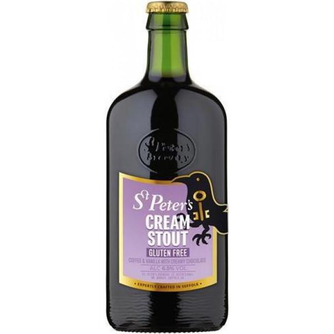 Пиво St. Peter's, Cream Stout Gluten Free Тёмное фильтрованное без глютена, 0.5 л