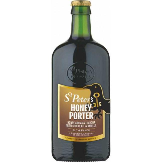 Пиво St. Peter's, Honey Porter Тёмное фильтрованное алк. 4,5%, 0.5 л
