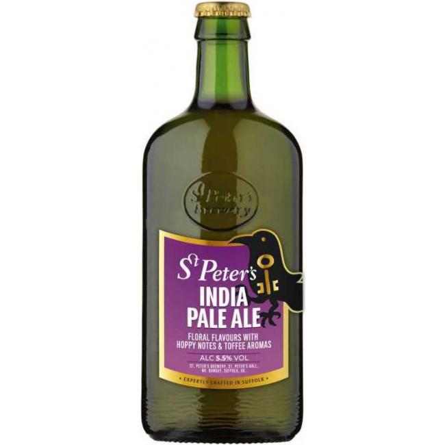 Пиво St. Peter's India Pale Ale Янтарное фильтрованное алк. 5,5%, 0.5 л