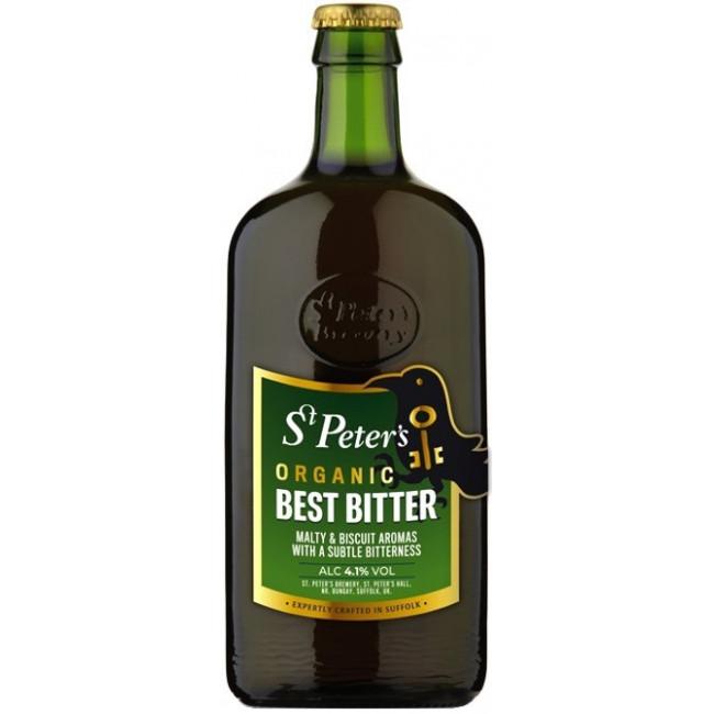 Пиво St. Peter's Organic Best Bitter Янтарное фильтрованное алк. 4,1%, 0.5 л