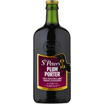 Пиво St. Peter's, Plum Porter Сливовый портер алк. 5%, 0.5 л