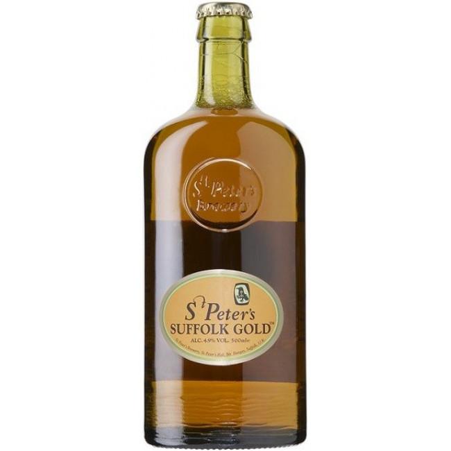 Пиво St. Peter's Suffolk Gold Светлое фильтрованное алк. 4,9%, 0.5 л