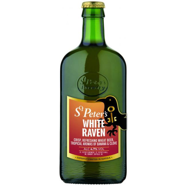 Пиво St. Peter's White Raven Светлое пшеничное алк 4,7%, 0.5 л
