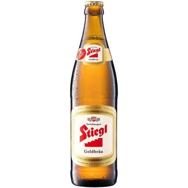 Пиво Stiegl Goldbrau Светлое фильтрованное 4,9%, 0.5 л