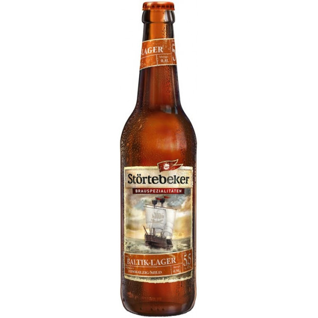 Пиво Stortebeker Baltik-Lager Светлое фильтрованное алк. 5,5%, 0.5 л