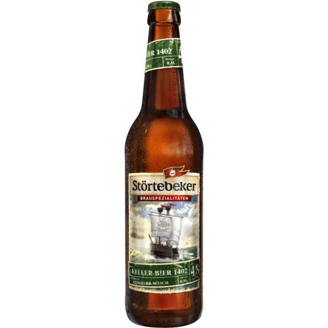Пиво Stortebeker Kellerbier 1402 Светлое нефильтрованное алк. 4,8%, 0.5 л