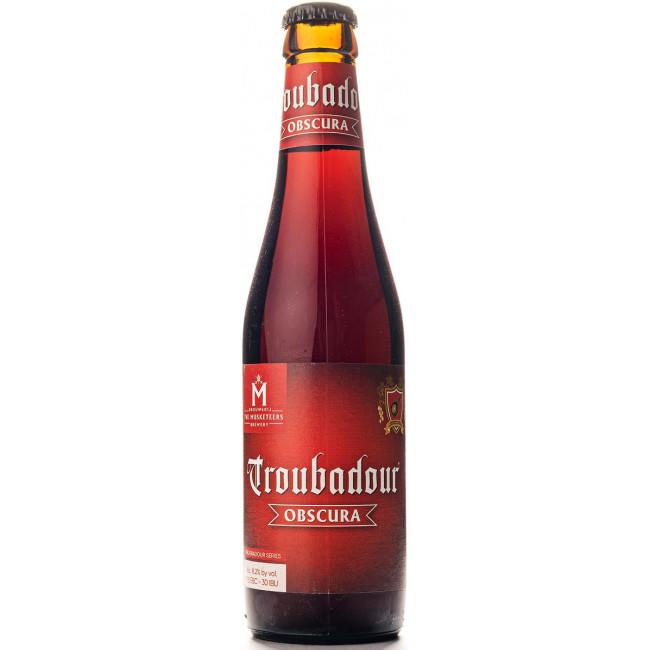 Пиво The Musketeers Troubadour Obscura Тёмное крафтовое нефильтрованное алк. 8,2%, 0.33 л
