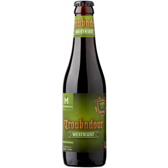 Пиво The Musketeers Troubadour Westkust Чёрное крафтовое алк. 8,5%, 0.33 л