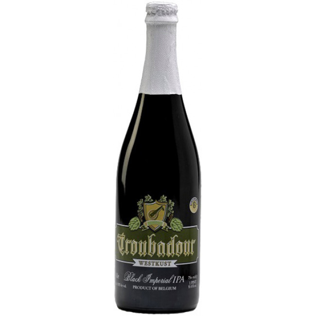 Пиво The Musketeers Troubadour Westkust Чёрное крафтовое алк. 8,5%, 0.75 л