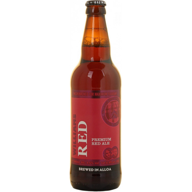 """Пиво """"Williams"""" Red коричневое фильтрованное, 0.5 л"""
