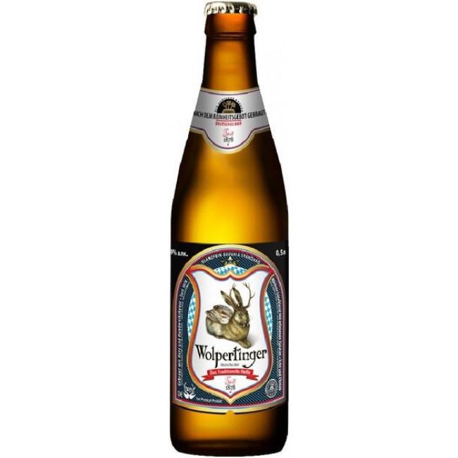 Пиво Wolpertinger Das Traditionelle Helle Светлое фильтрованное 5,1%, 0.5 л