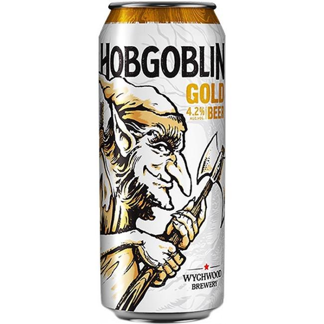 Пиво Wychwood Hobgoblin Gold Светлое фильтрованное 4,5%,  банка 0.5 л