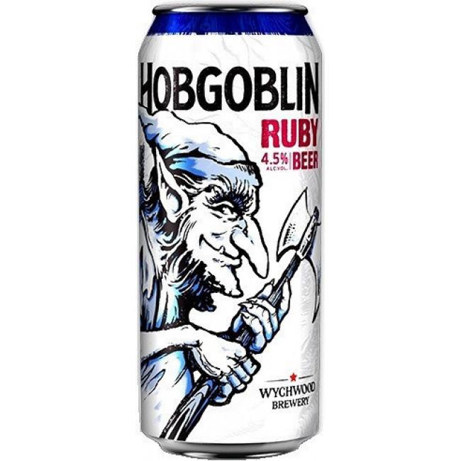 Пиво Wychwood Hobgoblin Тёмное фильтрованное алк. 4,5%,  банка 0.5 л