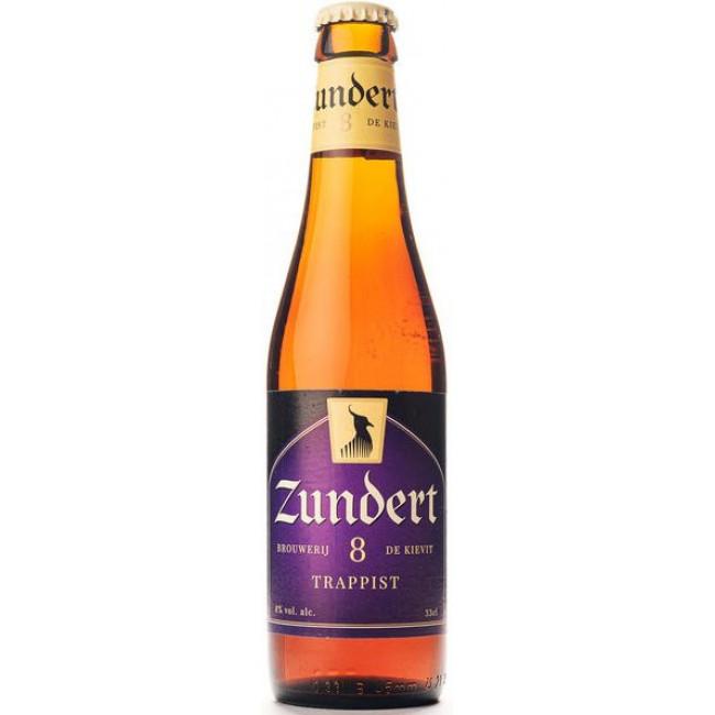 Пиво Zundert Trappist Янтарное фильтрованное алк. 8%, 0.33 л