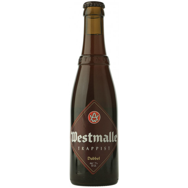 Пиво Westmalle Trappist Dubbel Тёмное фильтрованное алк. 7%, 0.33 л