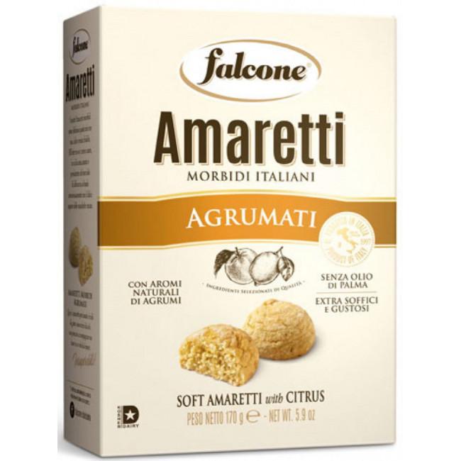 Печенье сдобное, мягкое, Falcone Amaretti  с ароматом цитрусовых, 170 г