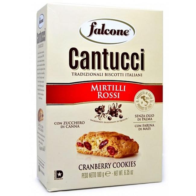 Печенье Falcone Cantucci кантуччи с клюквой