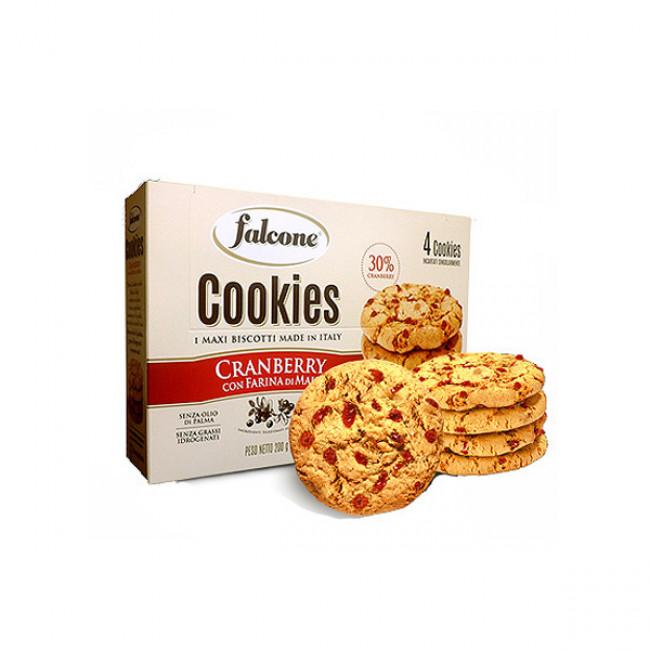 Печенье Falcone Cookies с клюквой и кукурузной мукой