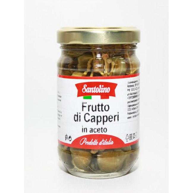 Плоды каперсов маринованные Santolino  212 мл.