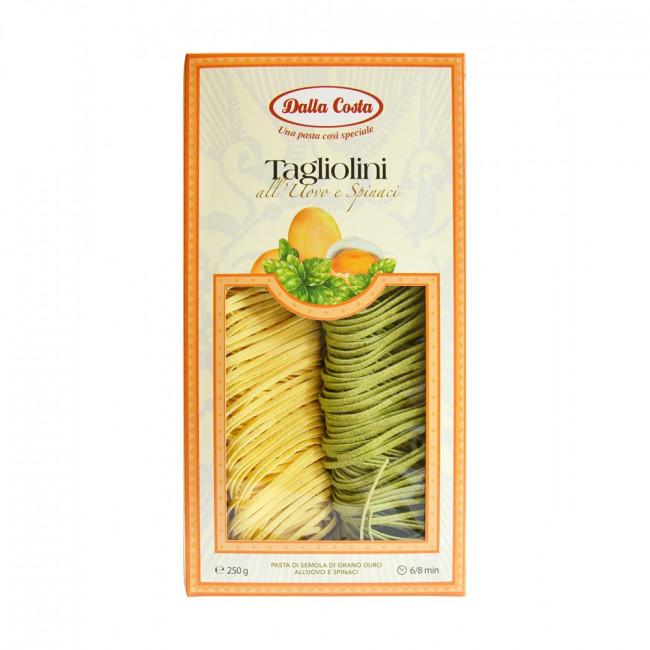 Тальолини с яйцом и шпинатом Dalla Costa, 250 г