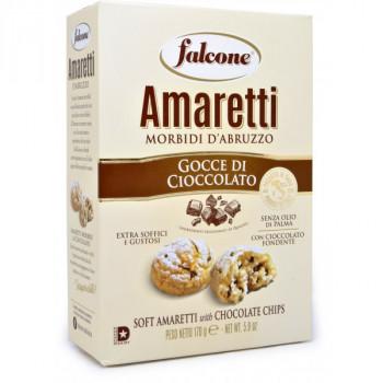 Печенье сдобное, мягкое Falcone Amaretti с темным шоколадом, 170 г