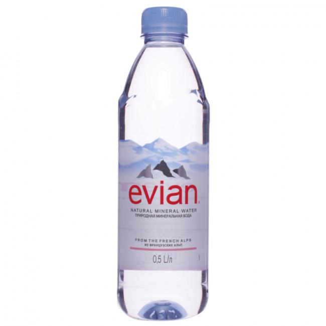 Вода мин. EVIAN ЭВИАН п\б , 0,5