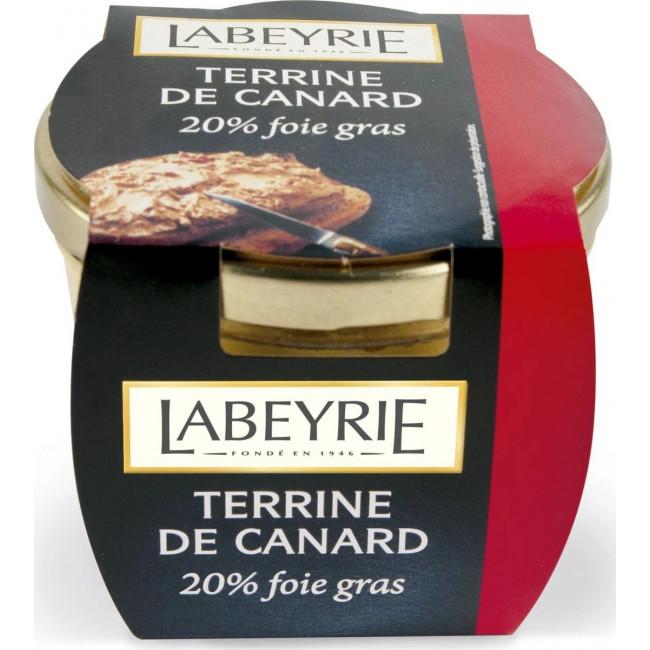 Террин Labeyrie  фуа-гра утиный с утиной печенью 20%, 170 гр.