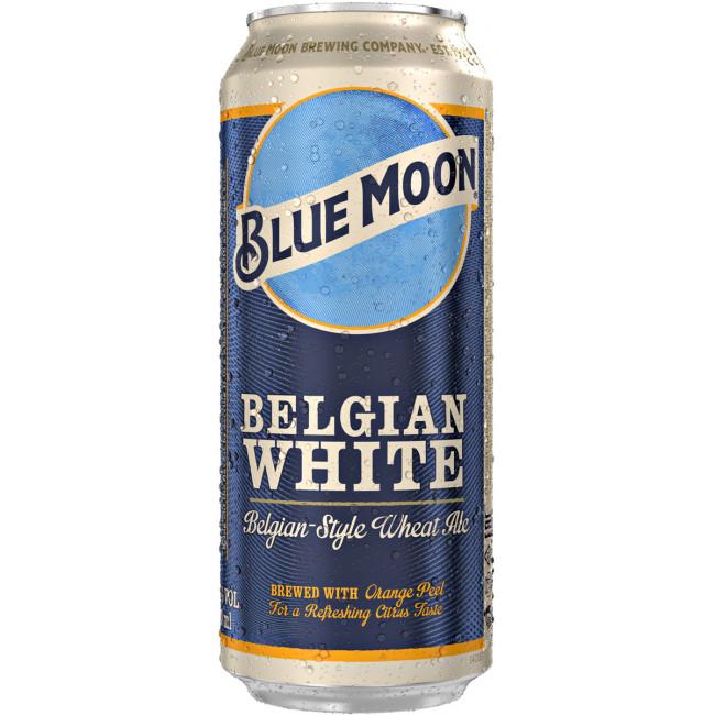 Пиво Blue Moon Belgian White Белый эль Светлое нефильтрованное, алк. 5,4%, 0,5 л банка