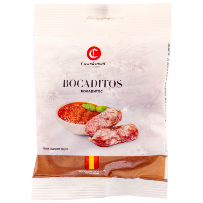 Колбаски Casademont Бокадитос с томатами сыровяленые, 60 гр