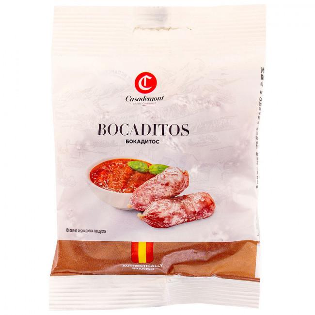 Колбаски Casademont Бокадитос с сыром и плесенью сыровяленые, 60 гр