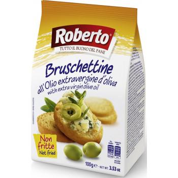 Хрустящие хлебцы Roberto Брускеттини со оливковым маслом, 100 гр.