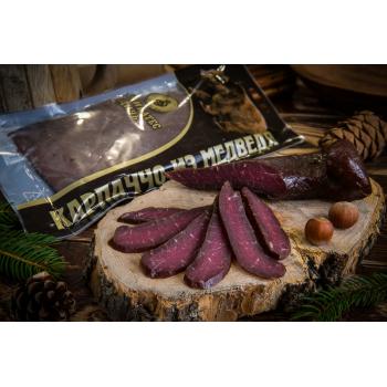 Карпаччо из мяса медведя Деликатес дичь, 100 гр