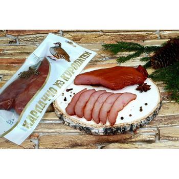 Карпаччо из мяса куропатки сырокопчёное,  Деликатес дичь 100 гр