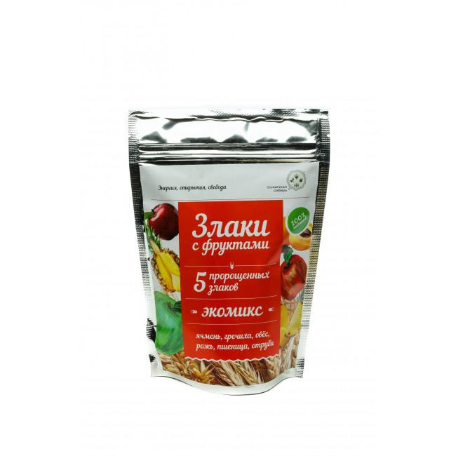 Каша Солнечная Сибирь Экомикс с фруктами, 150 гр