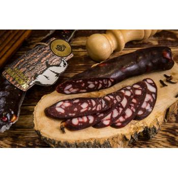 Колбаса из мяса барсука сырокопчёная,  Деликатес дичь 180 гр
