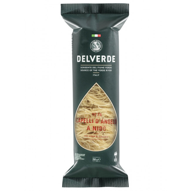 Макароны Delverde № 078 Капелли д Анджело, 250 гр