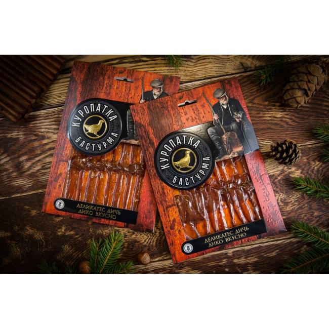 Нарезка Деликатес дичь из мяса Куропатки в подарочной упаковке, 100гр