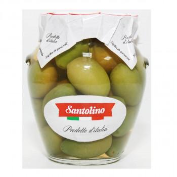 Оливки Santolino Гигант зеленые с косточкой, 314 мл