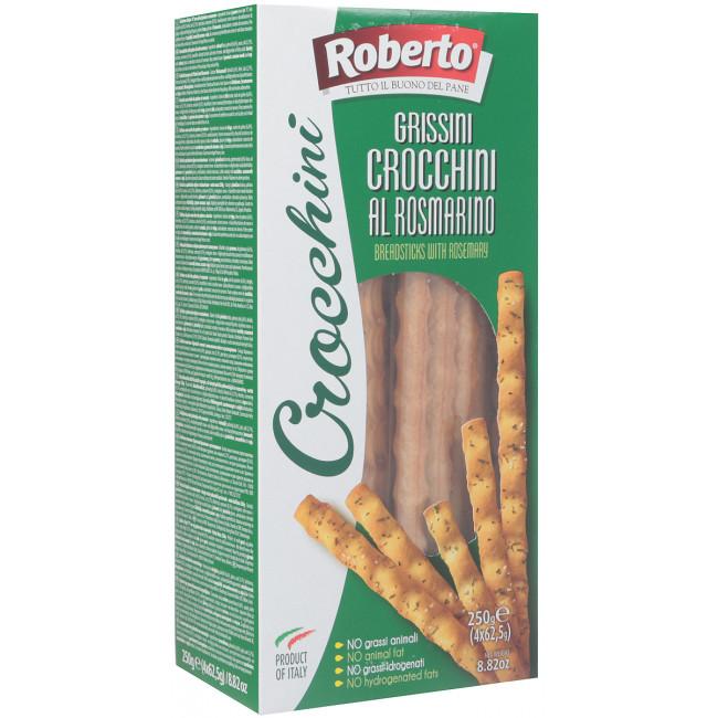 Палочки Хлебные Roberto Гриссини Кроккини с розмарином, 250 гр