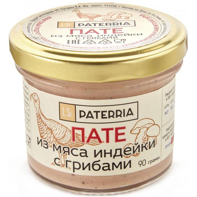 Пате Paterria из мяса индейки с грибами, 90гр