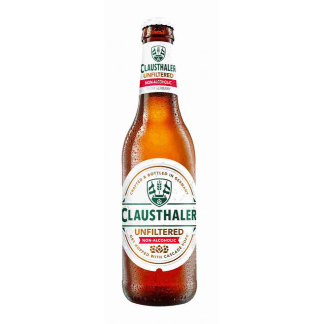 Пиво Clausthaler Unfiltered безалкогольное светлое, 0,33 л