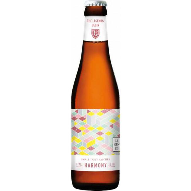 Пиво Brasserie des Legendes Harmony Светлое нефильтрованное алк. 6%, 0.33 л