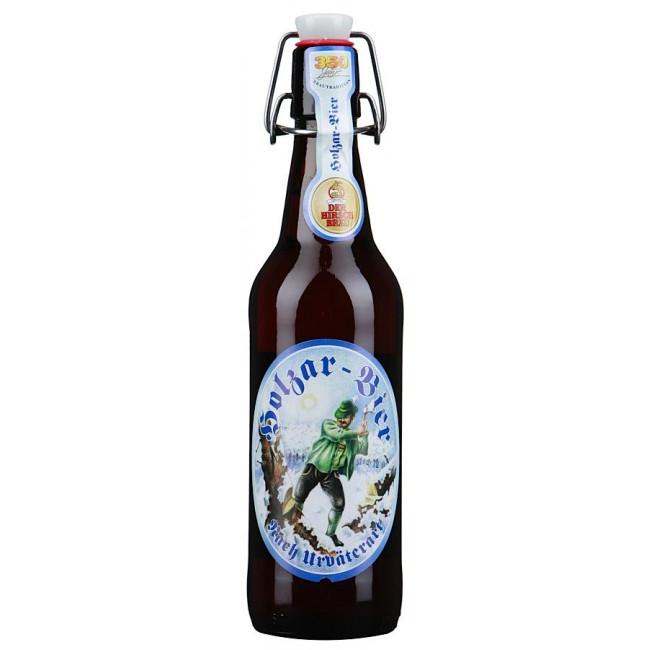 Пиво Hirschbroi Holzar Bier (Пиво Дровосека) темное алк. 5,2%,  0,5л