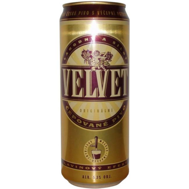 Пиво Staropramen Velvet Светлое фильтрованное алк. 5,1%, 0,5 л