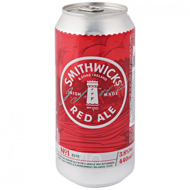 Пиво Smithwicks Red Ale Красный эль Тёмное алк. 3,8%, 0,44 л банка