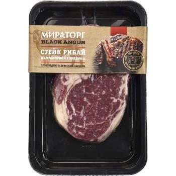 Стейк Рибай Мираторг из мраморной говядины DF Signature Black Angus, 390 гр.