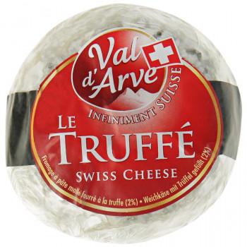 Сыр Ле Трюф мягкий с белой плесенью с трюфелем 57% жирности, 75гр.